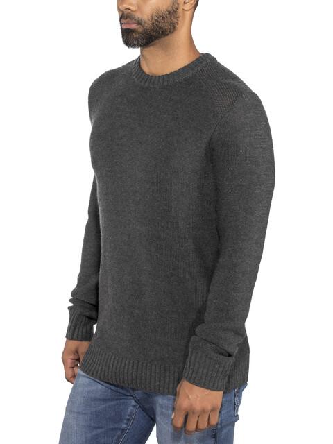 Icebreaker Waypoint Crew Sweater Men Charcoal Heather